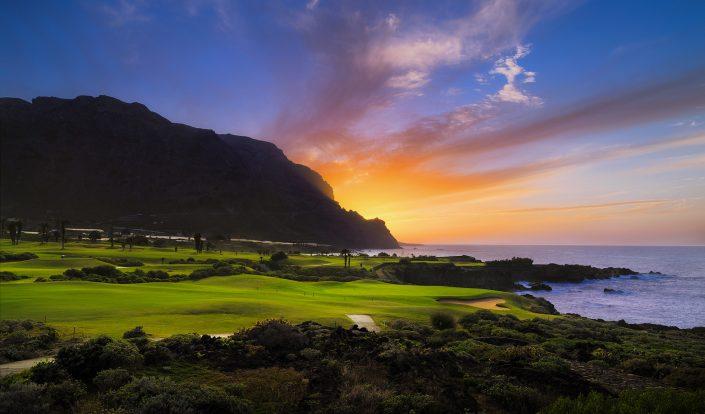 Buenavista Golf-TFE-Hoyo-15-al-atardecer