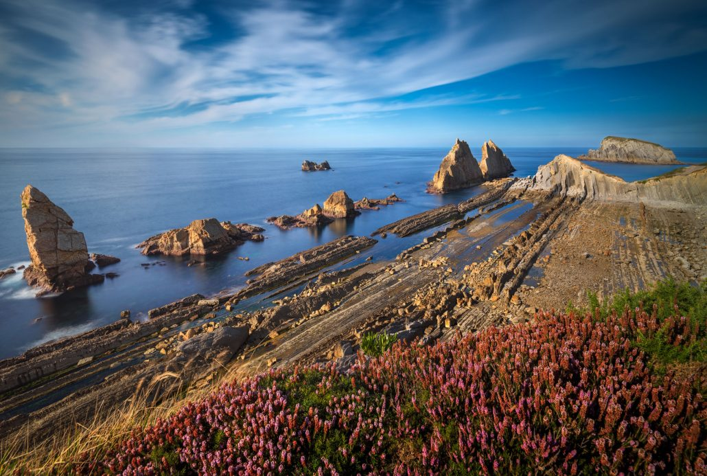 Landscape photo. Clifts of Arnia, Cantabria