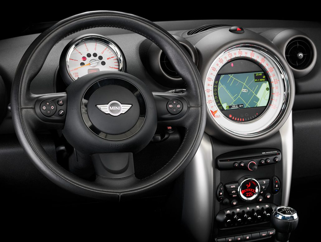 Product photograph. Mini Cooper Country dashboard