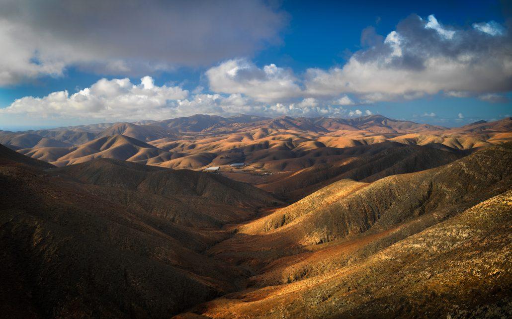 Landscape photo. Pajara mountains. Fuerteventura