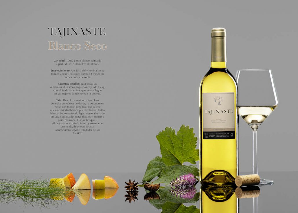 White wine photograph. Tajinaste
