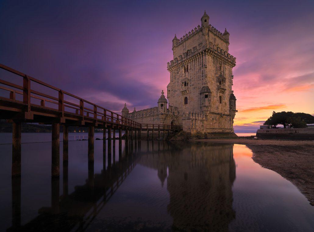Belem Tower at sunset, Lisbon