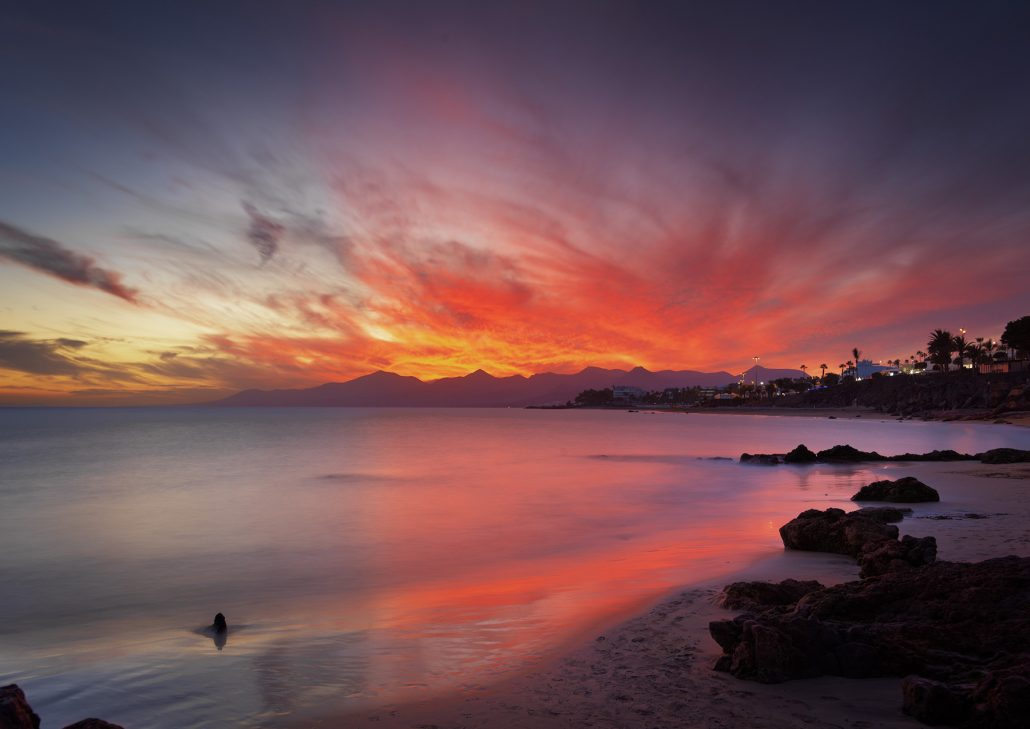Puerto del Carmen at sunset, Lanzarote