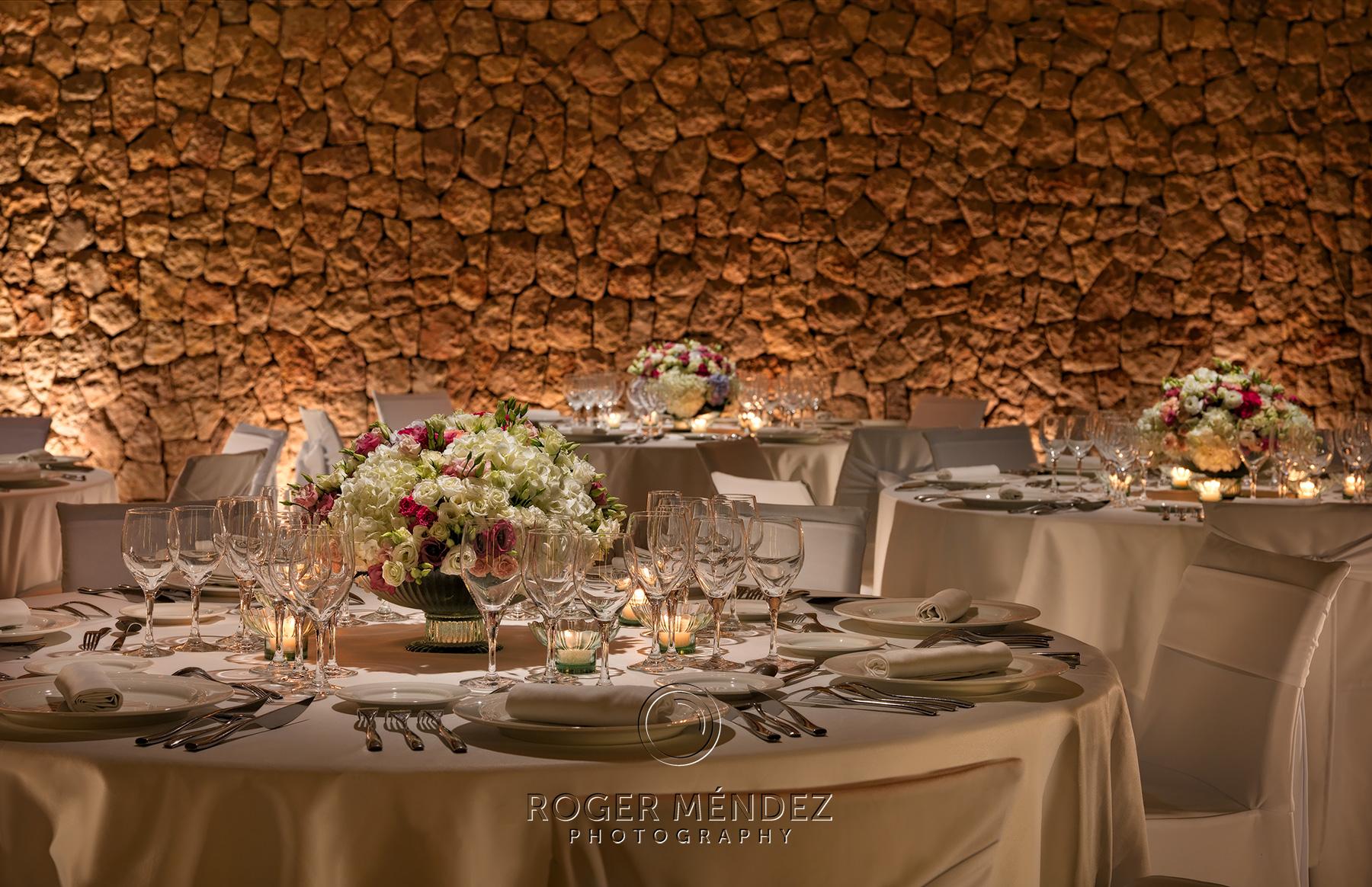 Banquet set up table detail