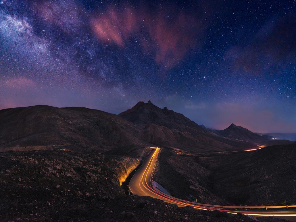Milky way from La Pared glazer