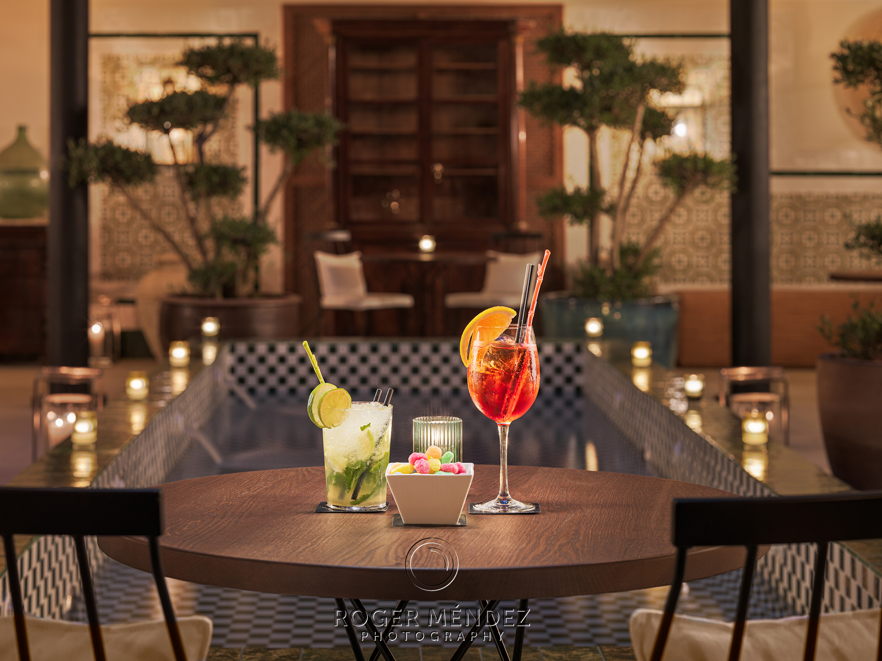 Cocktail detail at Atrium