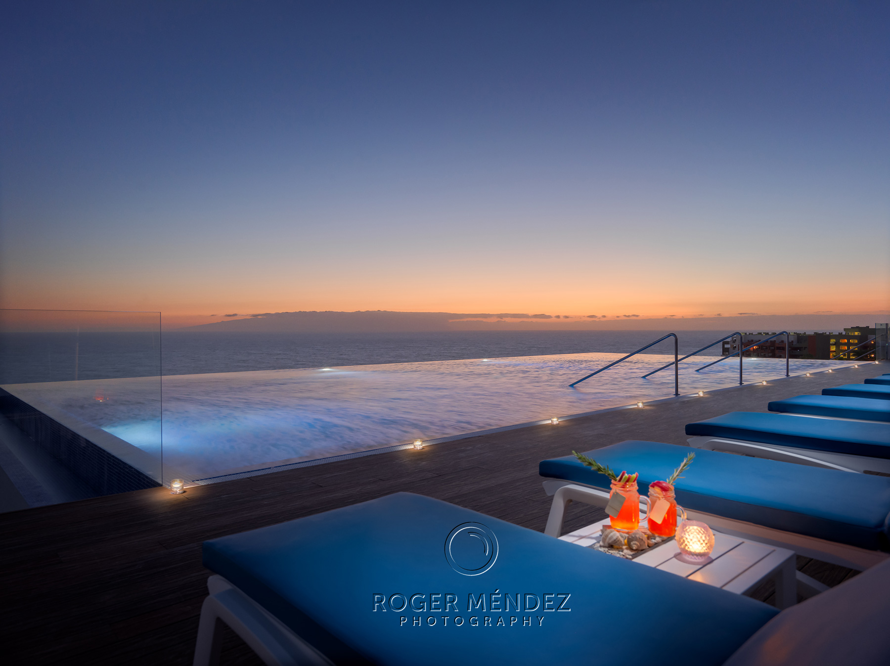 Infinity Pool Privilege at sunset H10 Atlantic Sunset