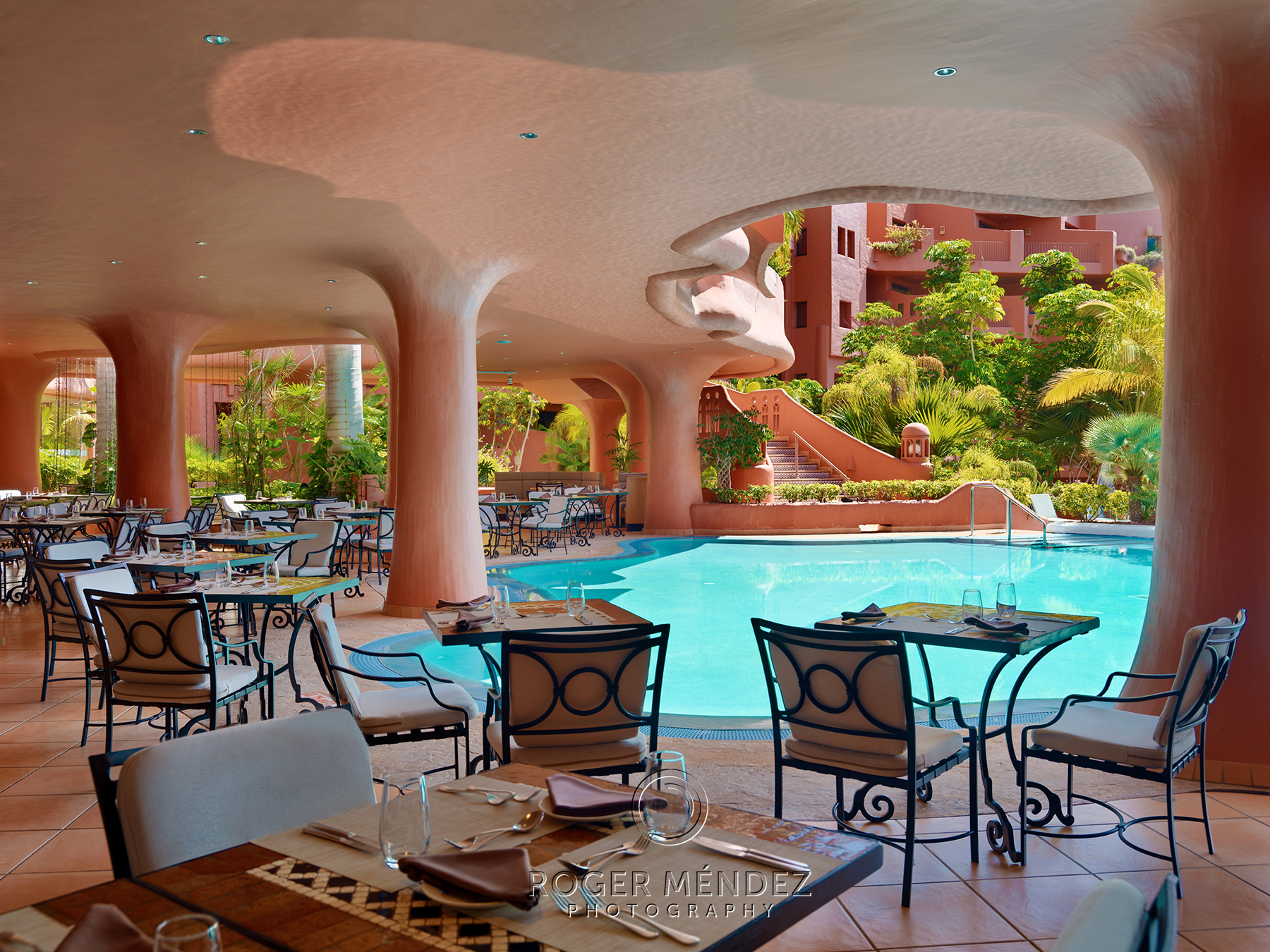El parador restaurant. Exterior with pool view. Sheraton La Caleta photos