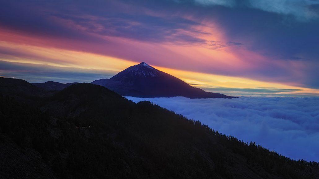 Sunset from Mirador de Ayose, Tenerife