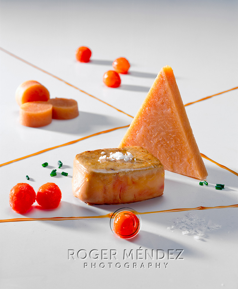 Roasted foie gras with palm honey and papaya