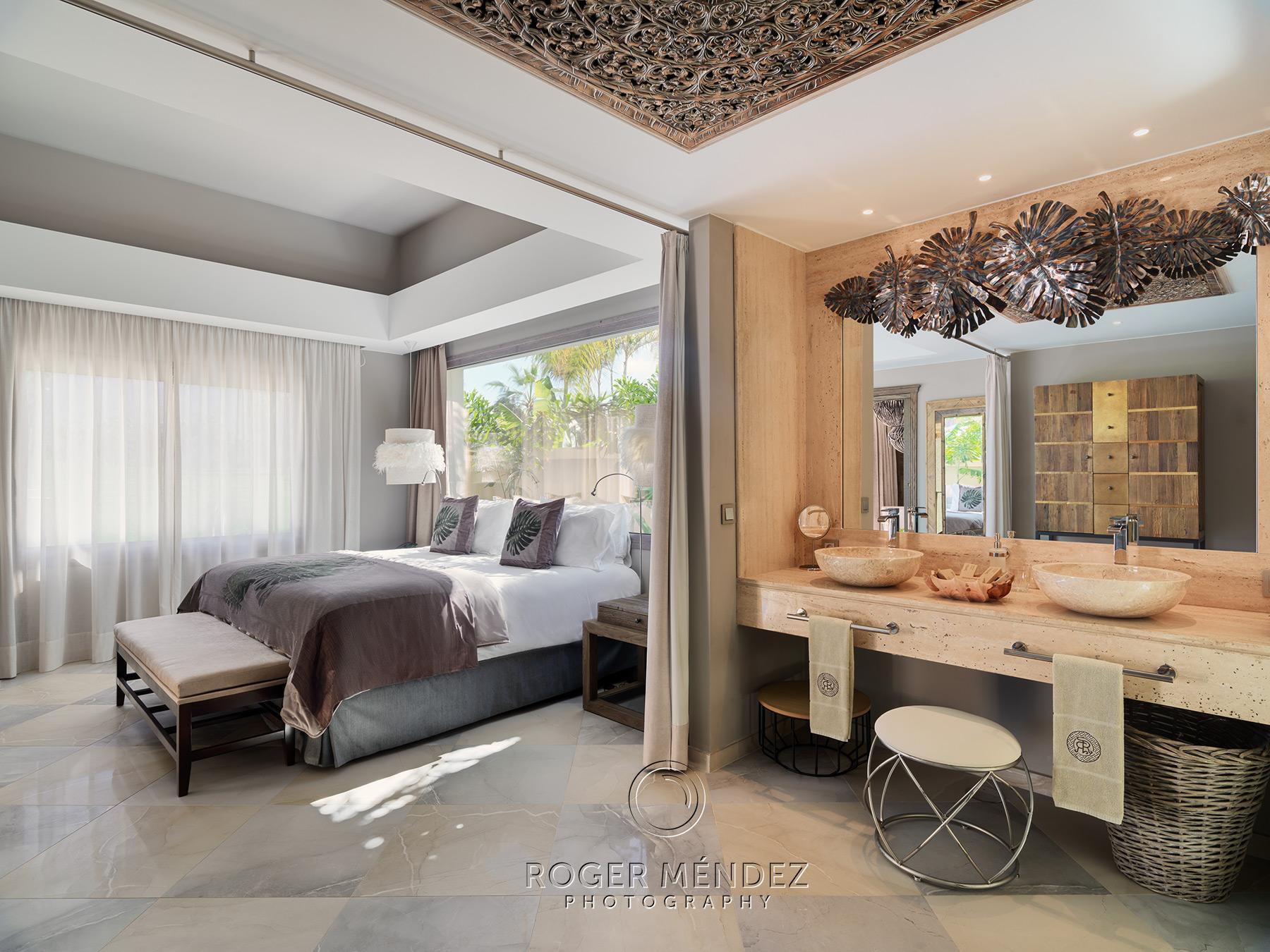 Bedroom villa shot