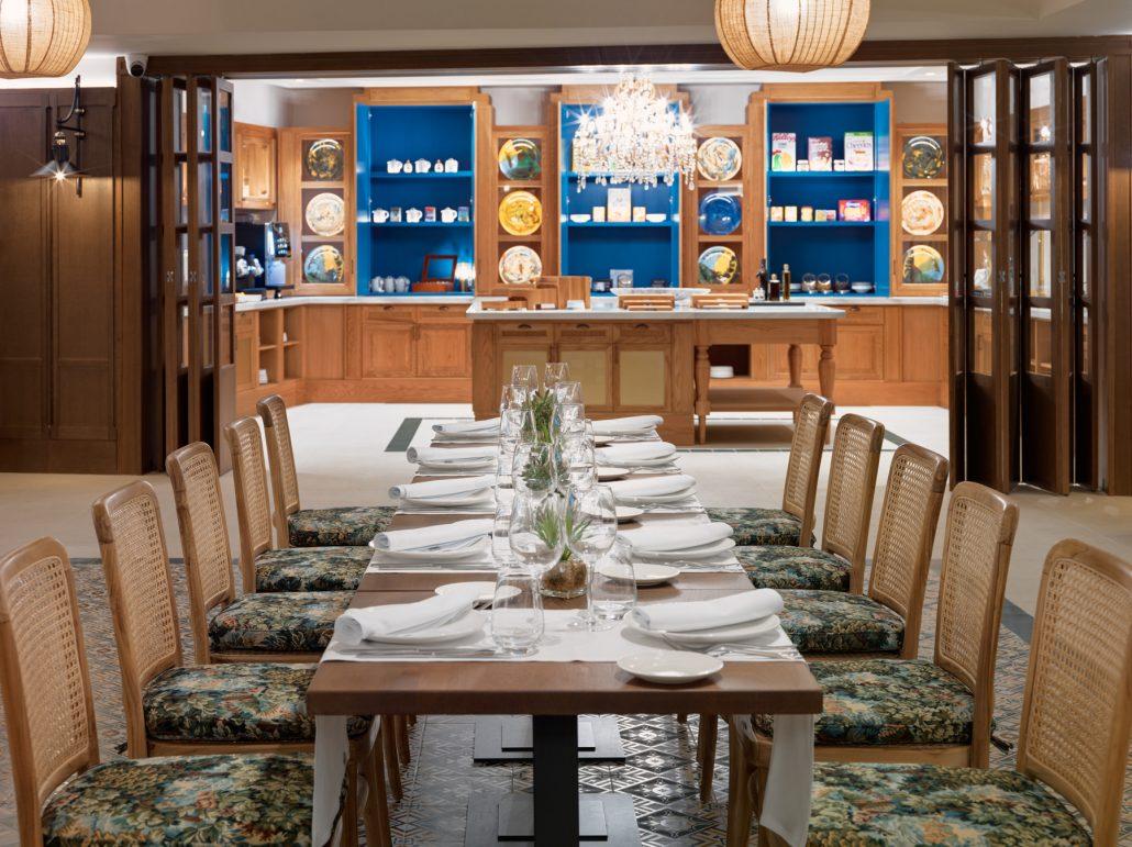 fotografía de montaje imperial en restaurante Magallanes