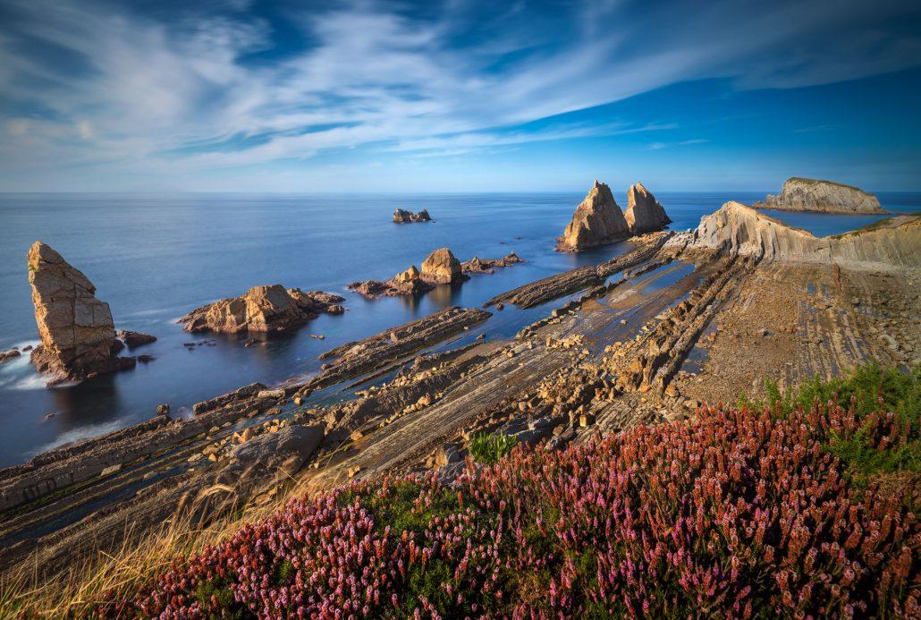 Fotografía paisaje. Acantilados Arnia, Cantabria