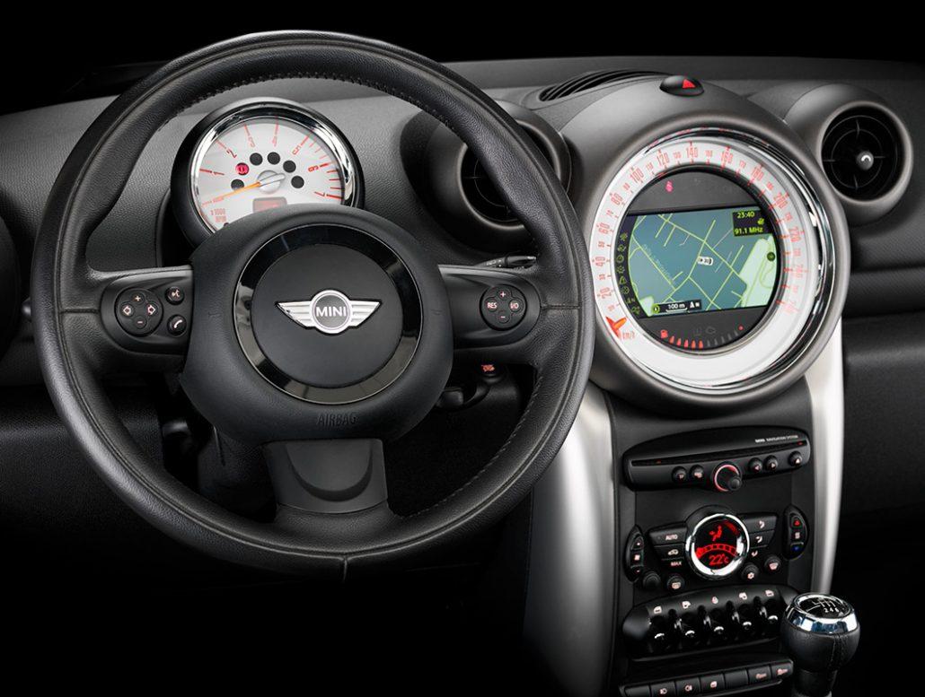 fotografía de producto. Mini-Cooper-Country cuadro de mandos