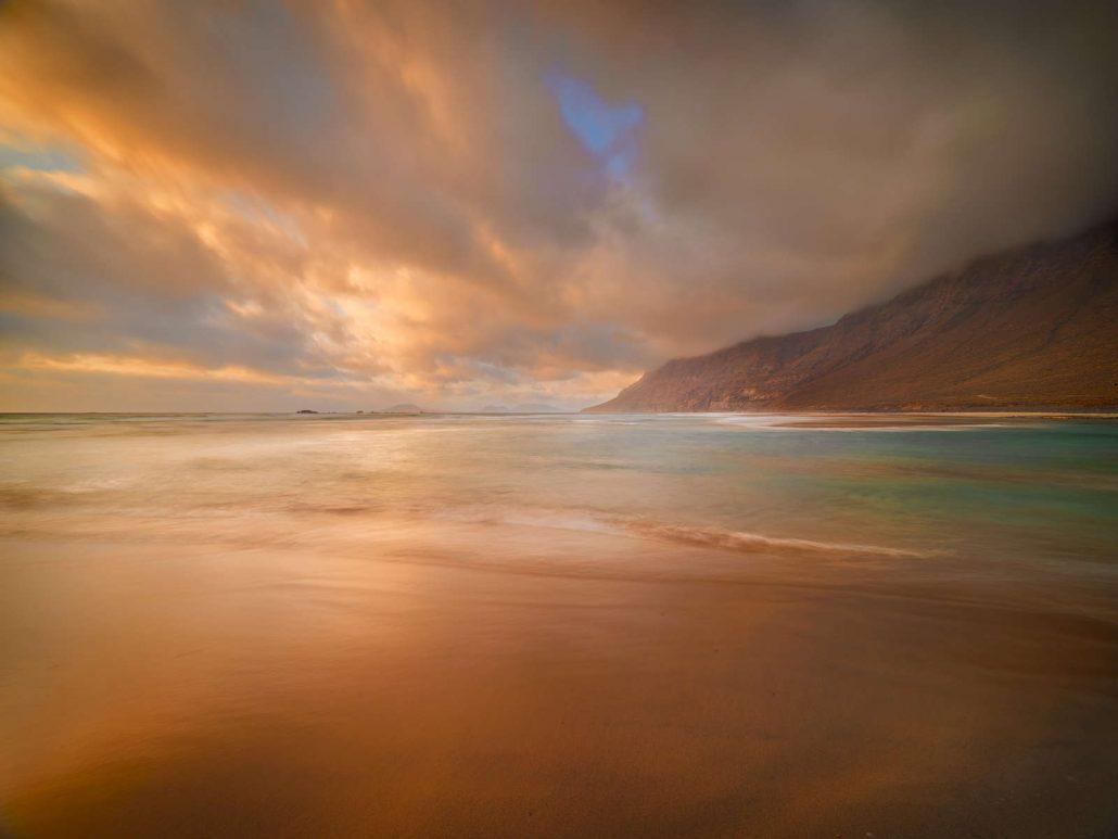 Fotografía paisaje. Playa de Famra Lanzarote