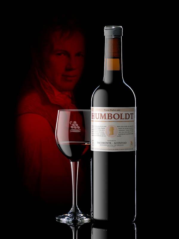 Fotografía de vino tinto Humboldt.