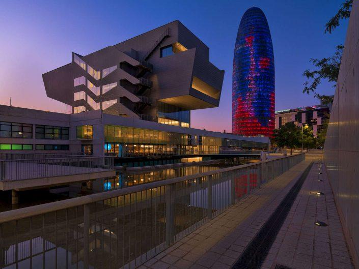 Fotografía urbana. Torre Agbar. Barcelona
