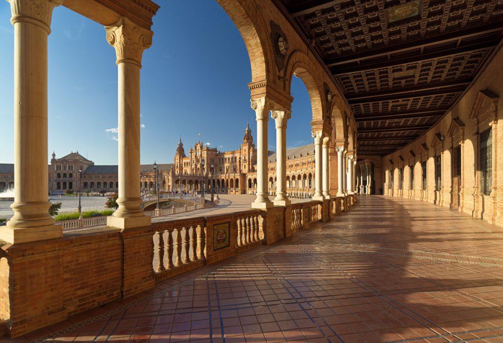 fotografía de la Plaza de España en Sevilla