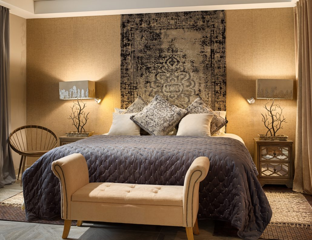 Fotografía detalle cama para el Royal River Resort