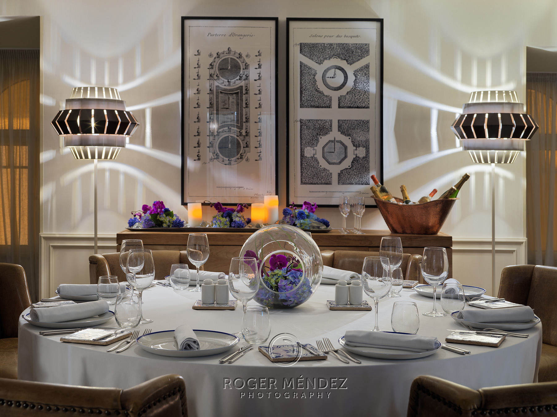 Detalle mesa banquete Sala Santa Marta