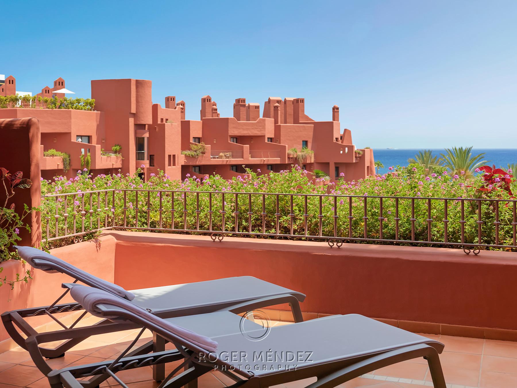 Terraza de habitación Premium de Sheraton La Caleta