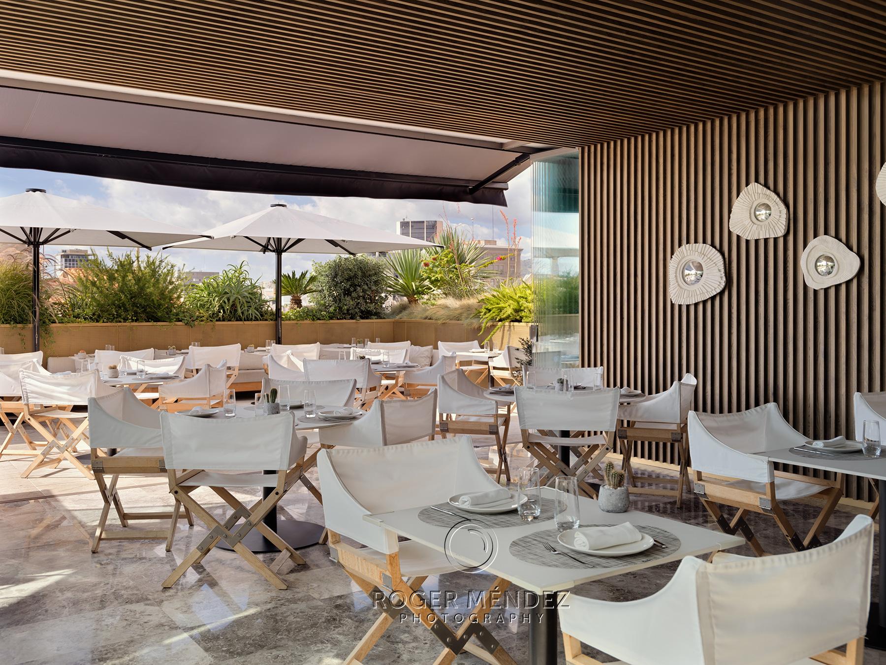Restaurante Moods. Montaje almuerzo, The One Barcelona