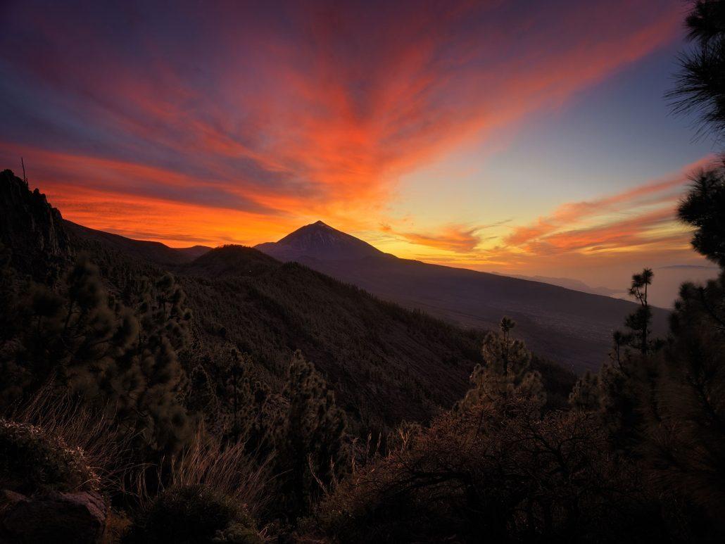 Puesta de sol. Tenerife