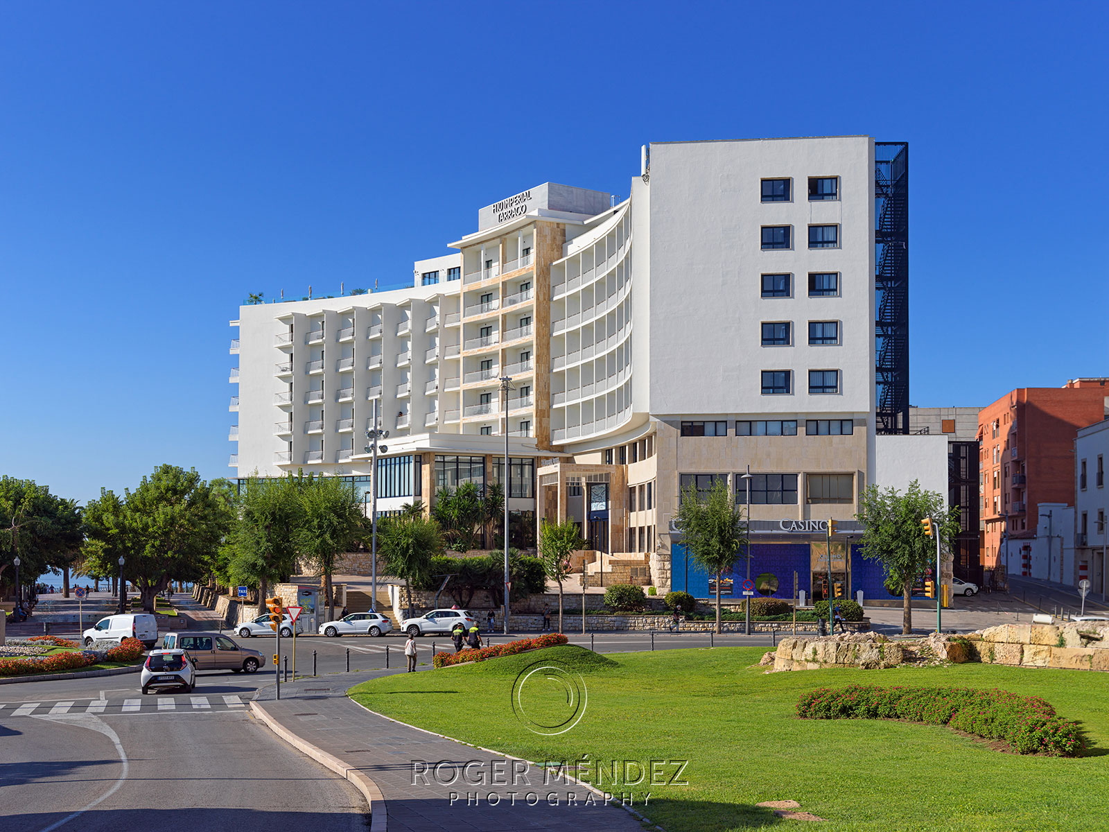 Toma de vista general del hotel