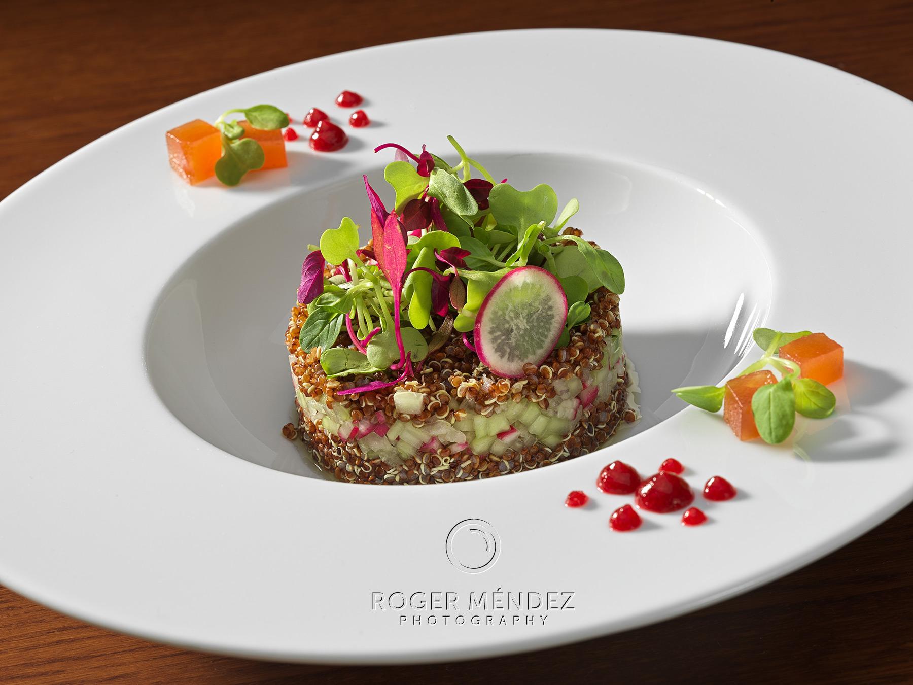 Fotografía de Ensalada de quinoa y membrillo