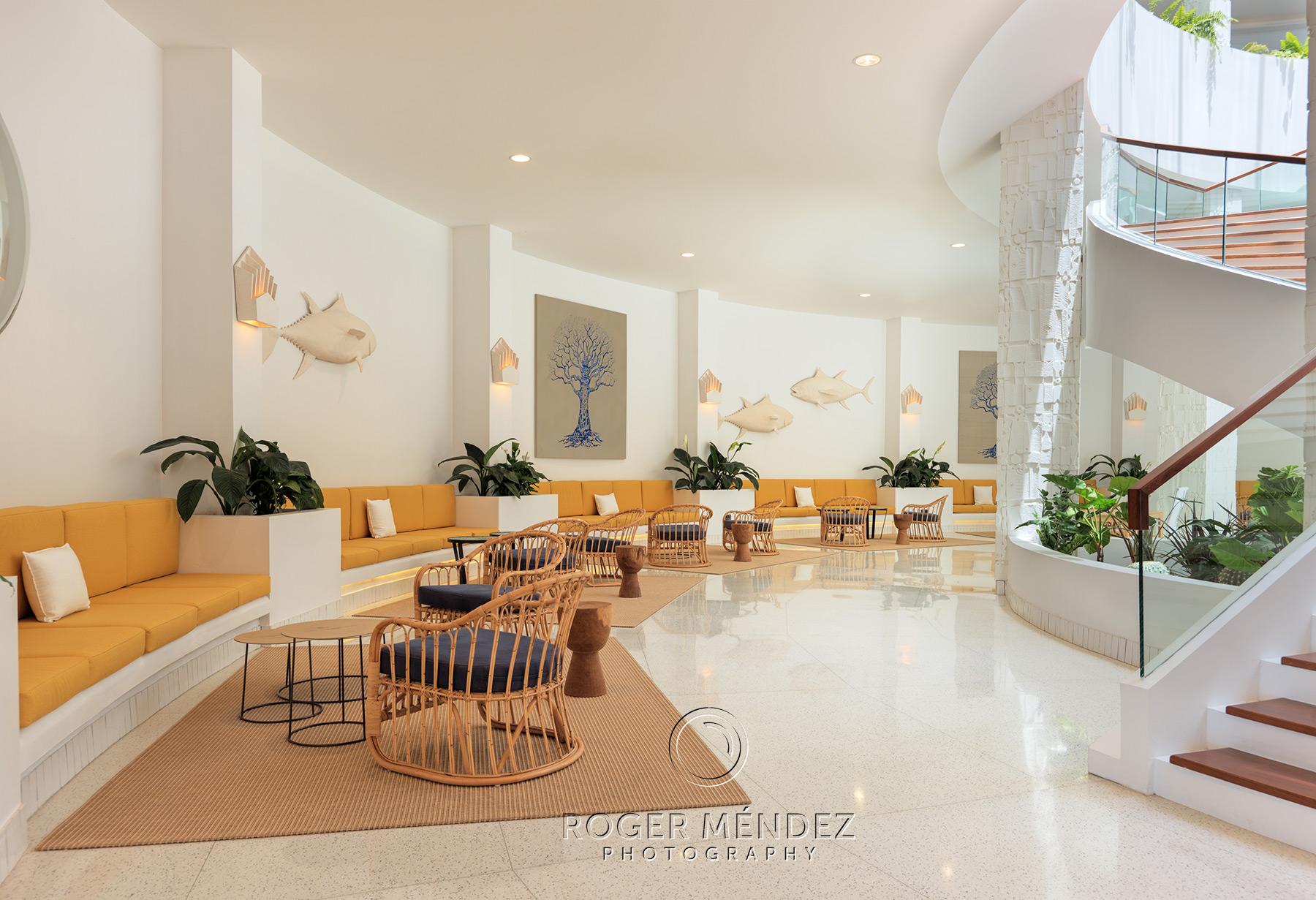 Planta inferior del lobby del H10 Atlantic Sunset