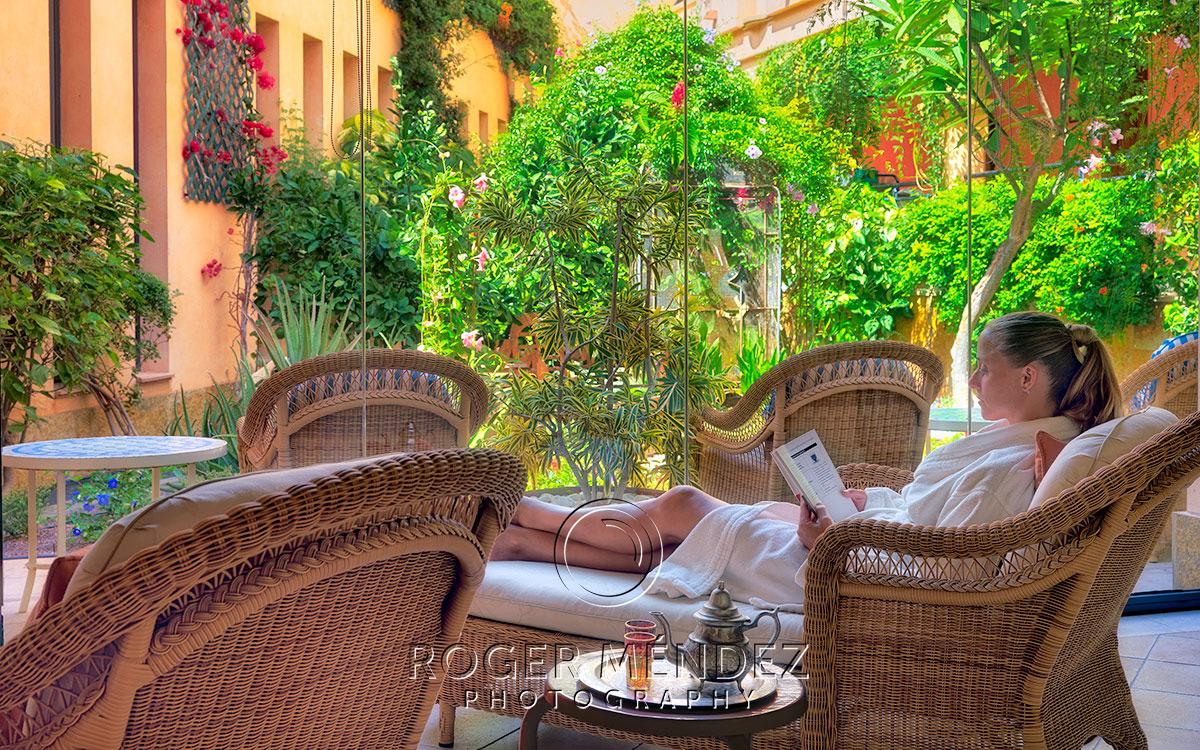 Patio Los Naranjeros. Gran Hotel Bahia Real