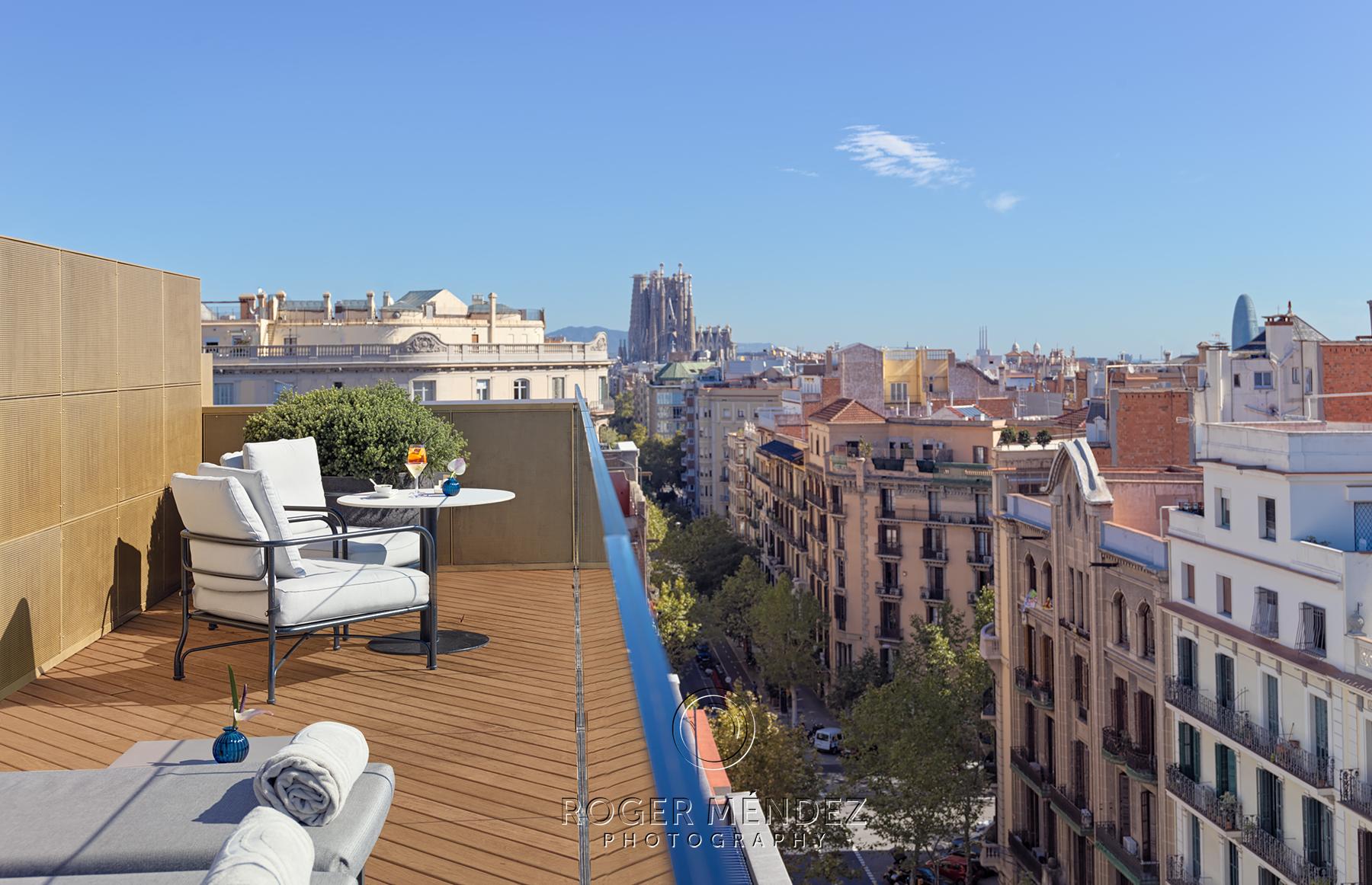 Terraza superior. Vistas Barcelona
