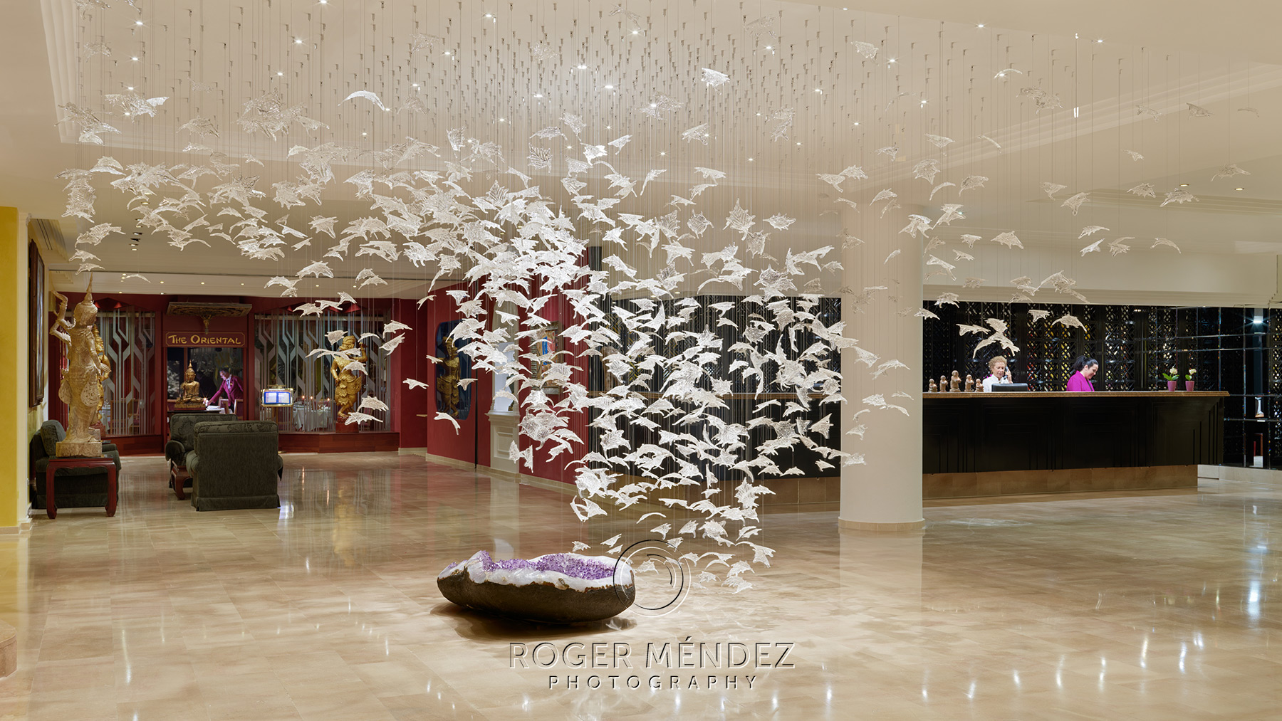 Lobby recepción del Hotel Botánico