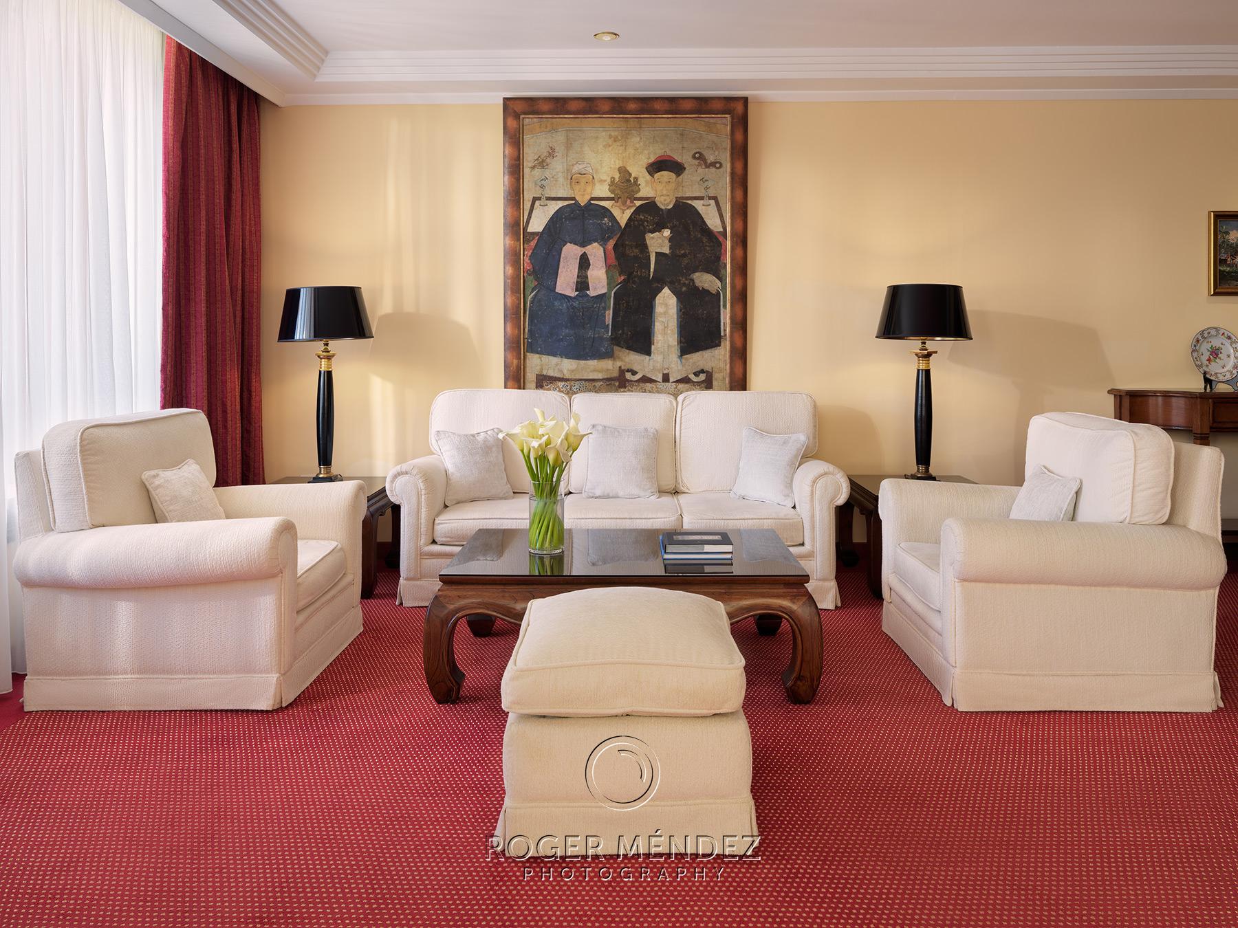 Salón habitación Senator con vistas al Teide