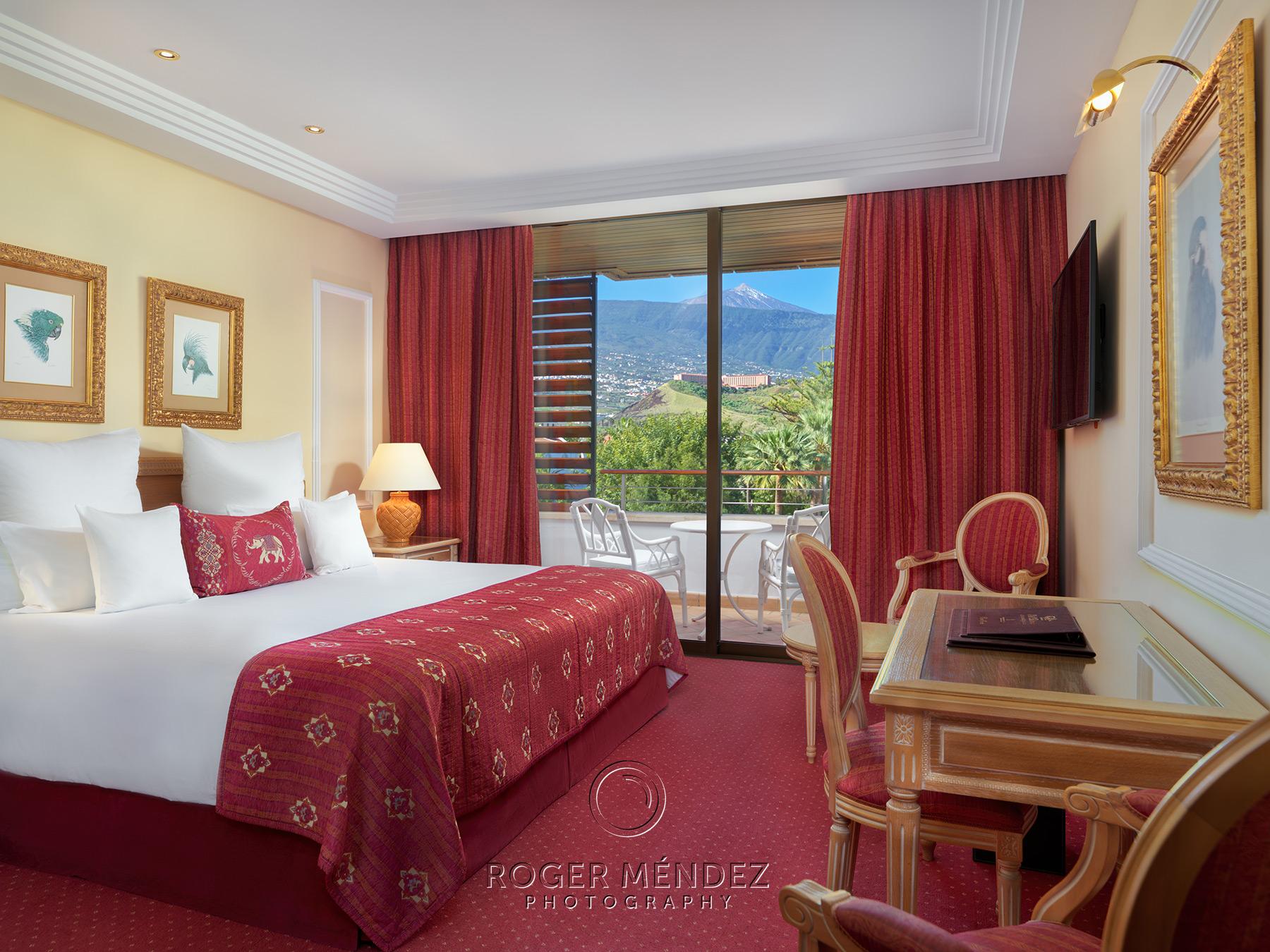 Vista general habitación doble con vistas al Teide