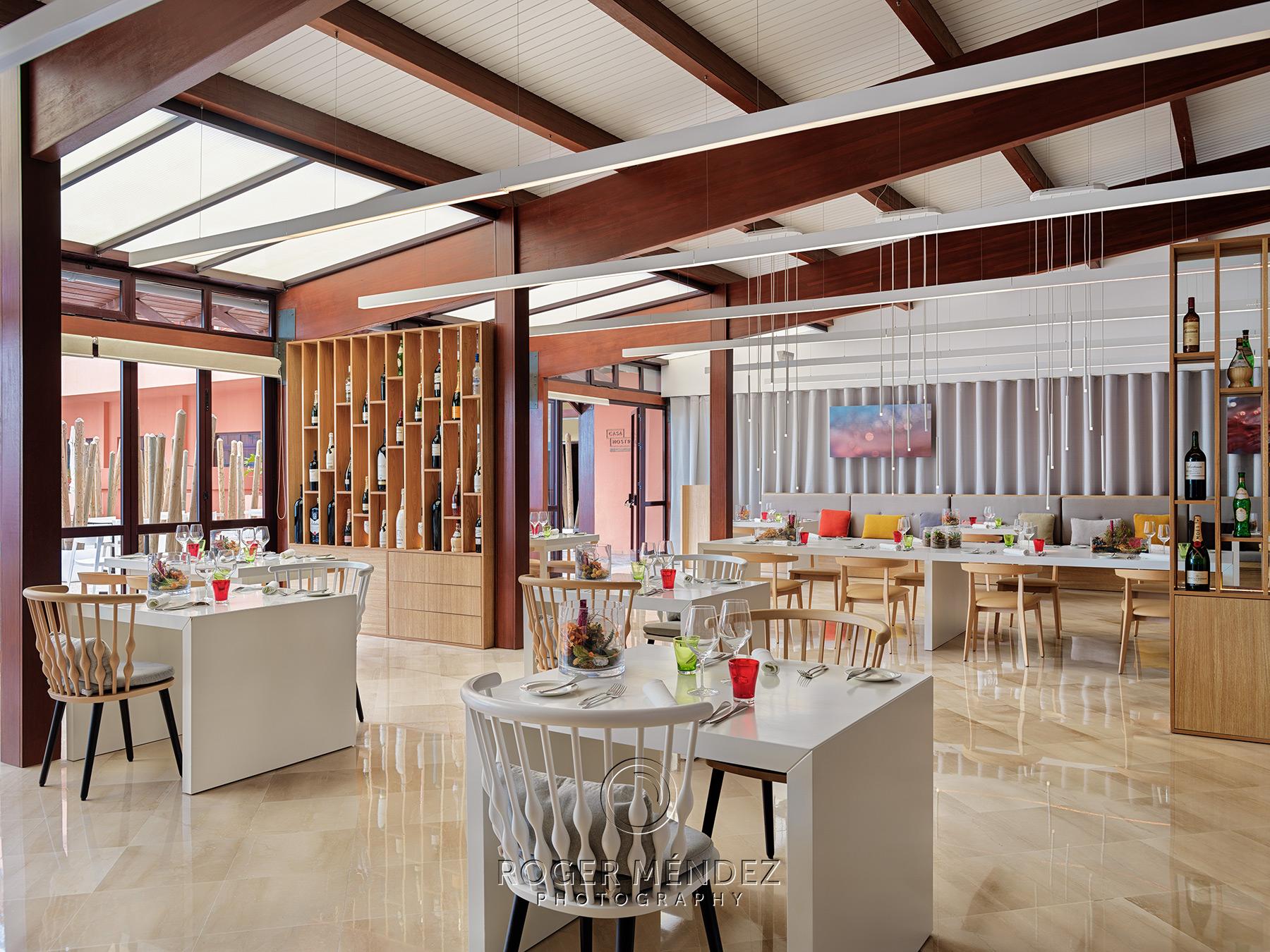 Restaurante Casa Nostra. Montaje cena