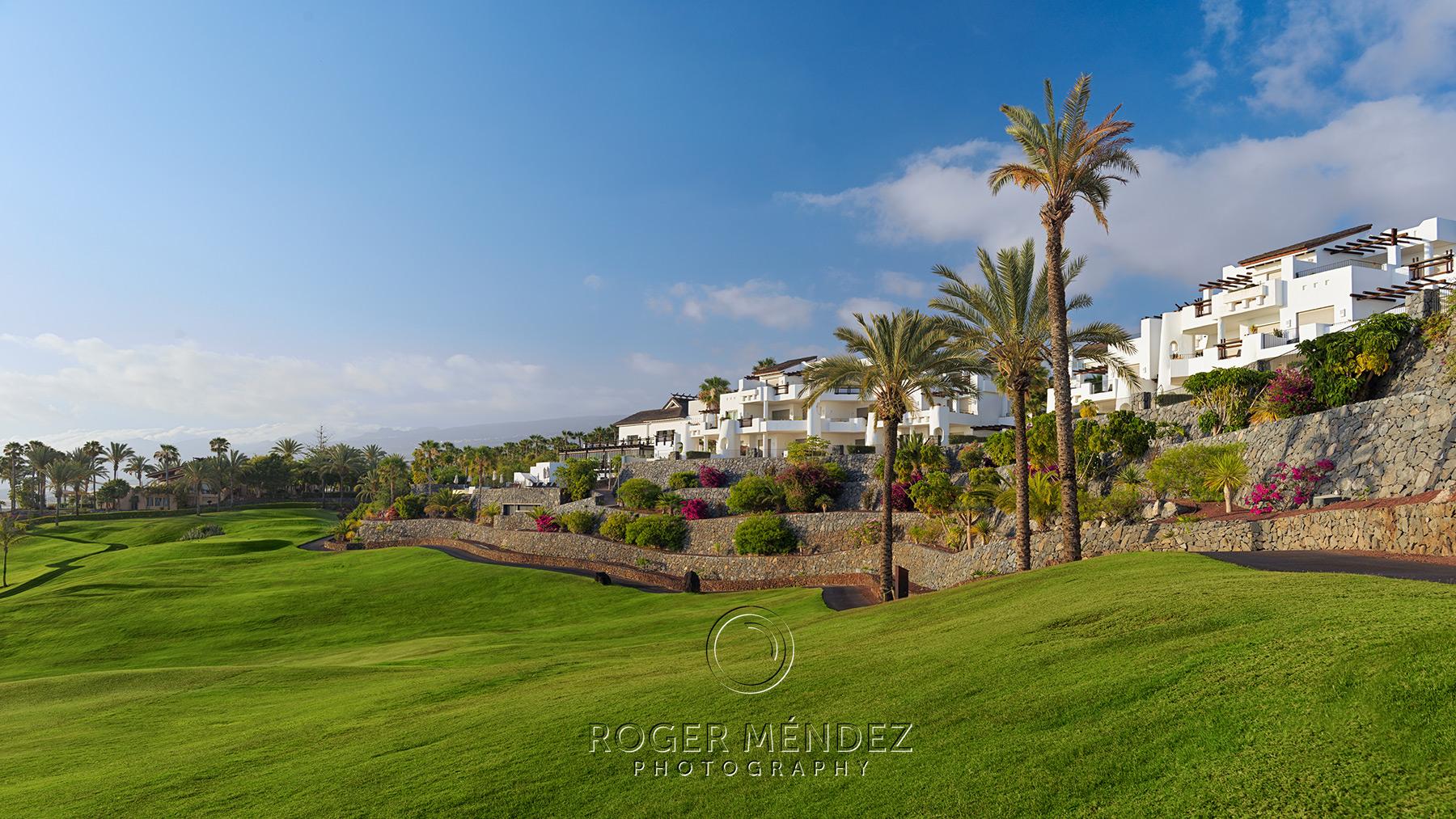 Vista del hotel desde el campo de golf