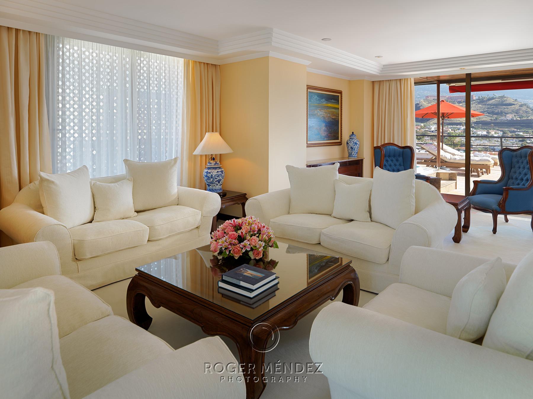 Salón suite del Hotel gran lujo Botánico